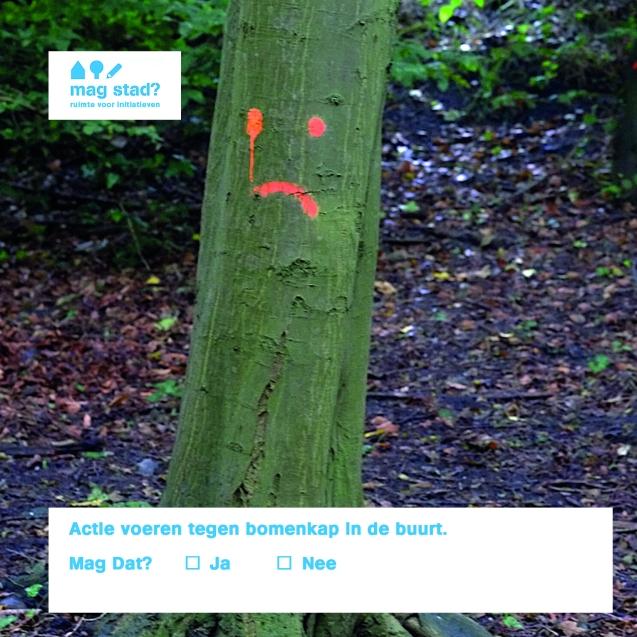 actie voeren tegen bomenkap